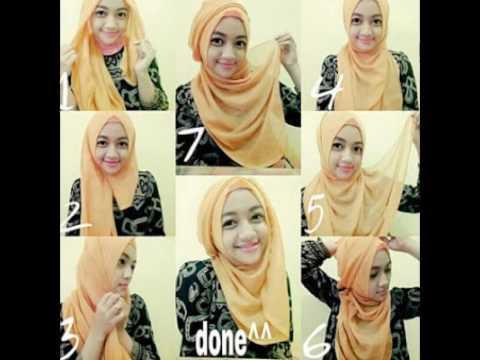 Tutorial Hijab Paris Segi Empat Simple Dan Modis Terbaru Youtube