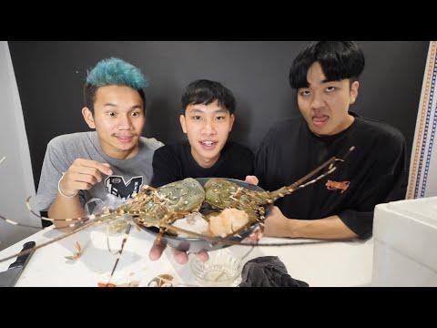 ทำกุ้งมังกรซาชิมิ 2 ตัว (กินดิบ) โคตรแพง!! กับเพื่อนเก่า ft. Kyutae Oppa, My Mesuan