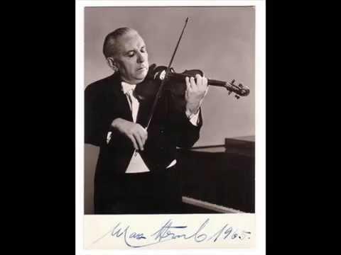 Max Strub (Vn) Beethoven Violin concerto ~1'st Mov.