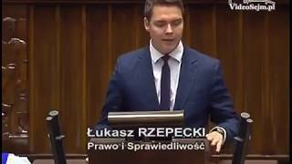 Łukasz Rzepecki PIS  o ustawie dot. opłaty paliwowej: zła, antyludzka i antyobywatelska