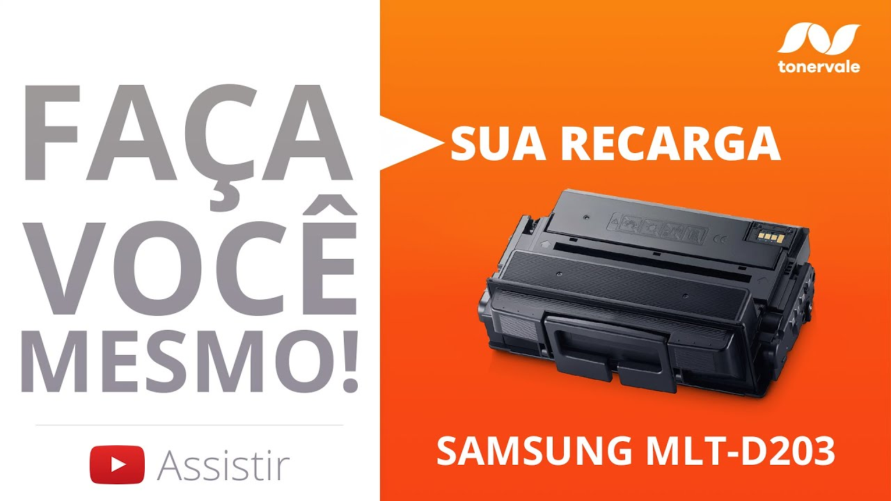 Recarga Toner Samsung MLT-D203 - M4070FR M4070 M4020ND M4020 - Vídeo Aula Toner Vale