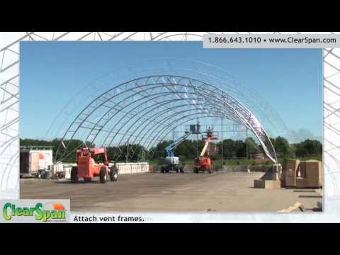 Time Lapse Construction Installation - Salt Storage Facility In Dyersville, IA