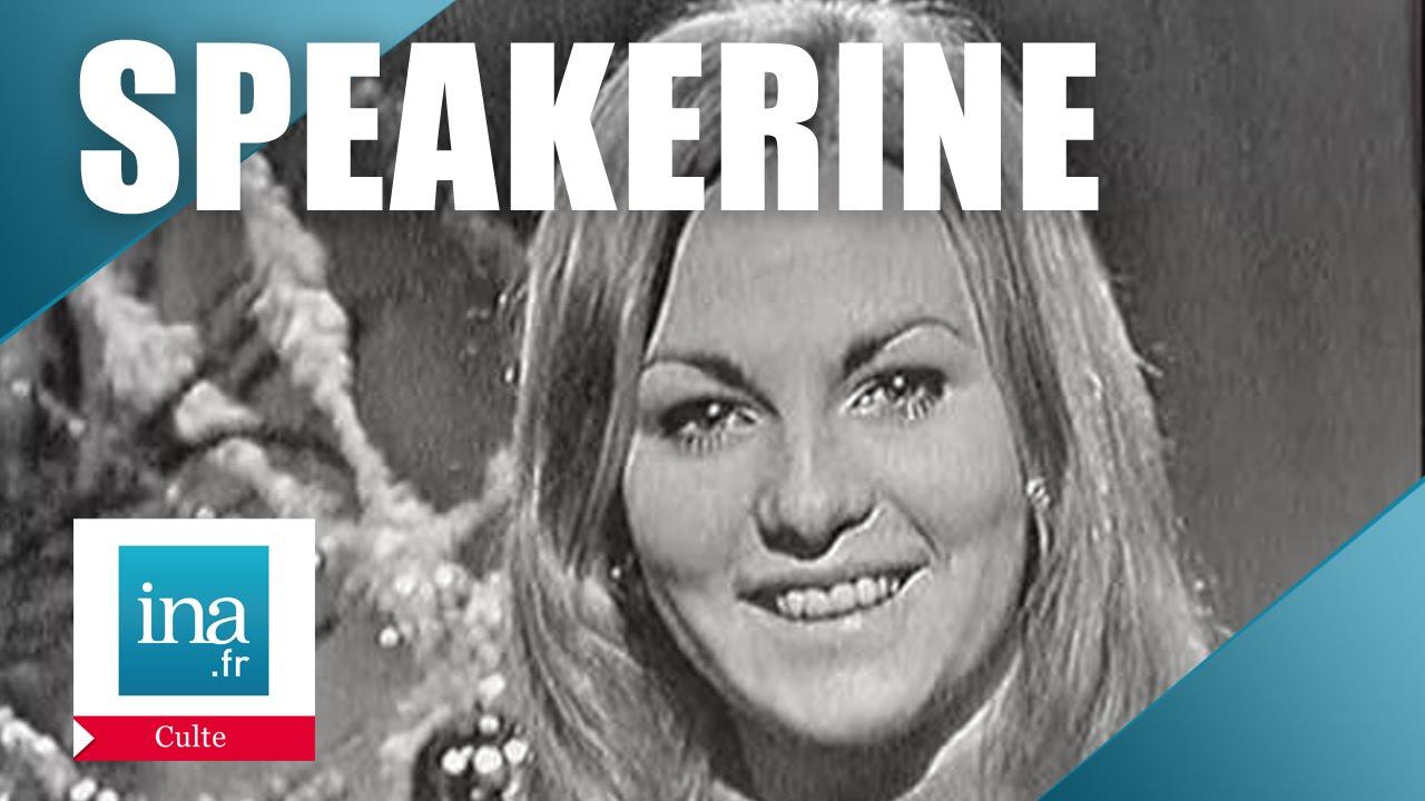 Speakerine 1970 Evelyne Leclercq   Archive INA