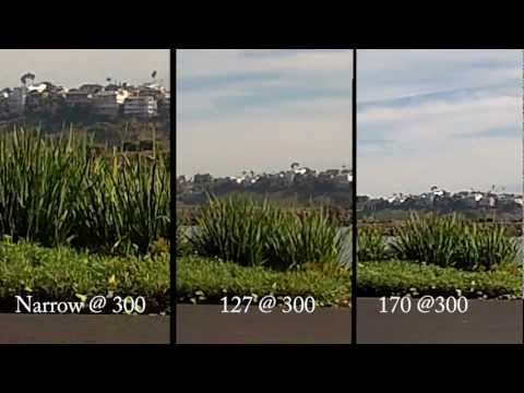 GoPro Hero2 Wide 170, 127 and Narrow Comparison