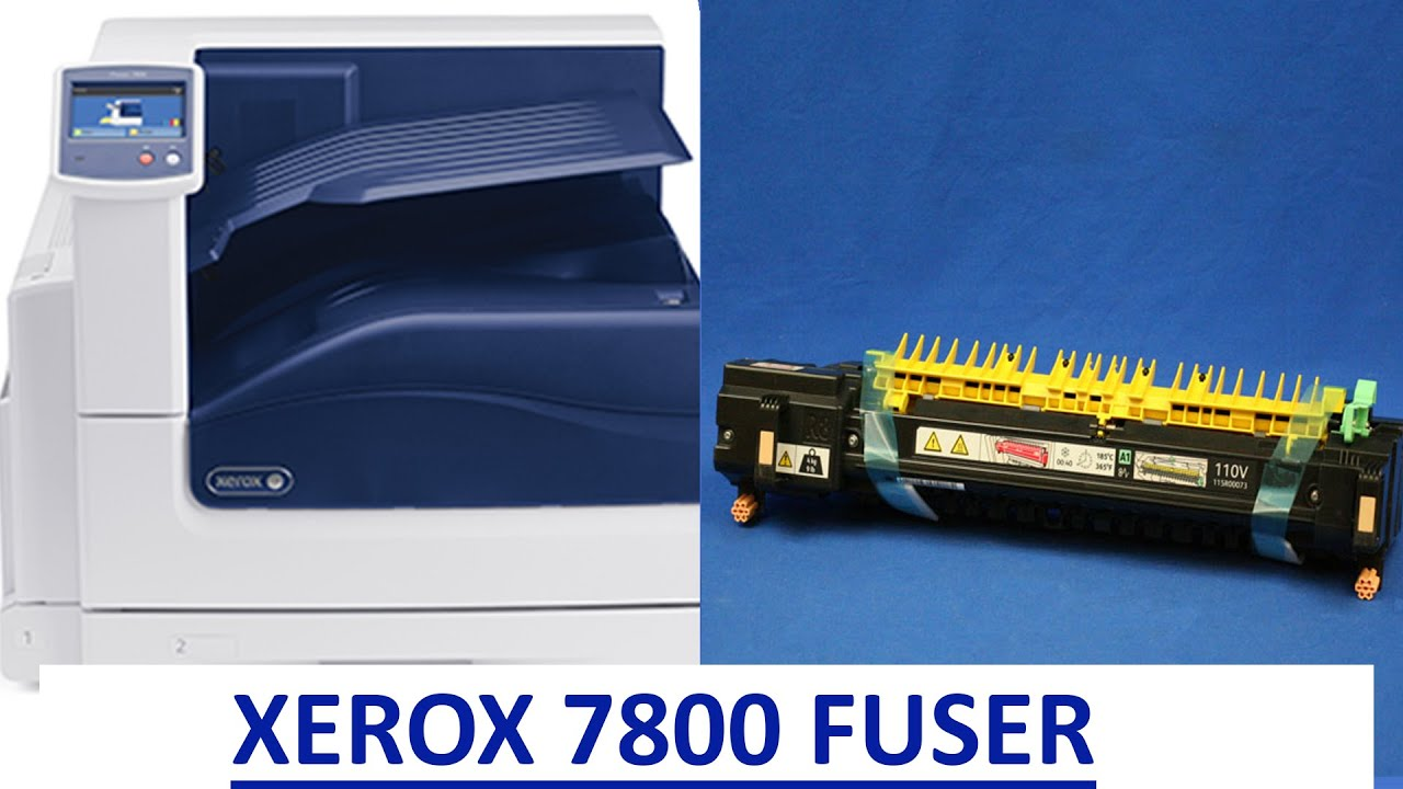 HOW TO CHANGE FUSER ON A XEROX PHASER 7800