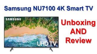 """مراجعة شاشة Samsung NU7100 43"""" 4K UHD Smart tv - فتح صندوق تلفزيون Samsung NU7100"""