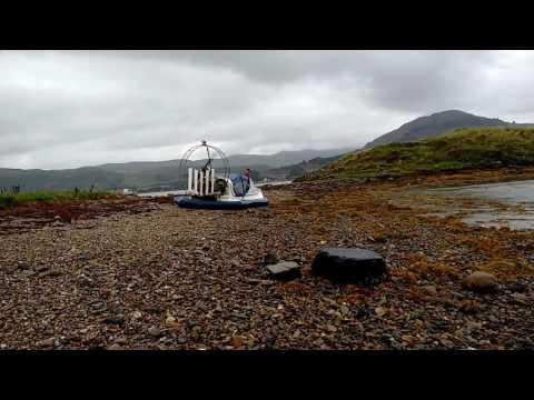 Prospector hovercraft landing near Newton Bay