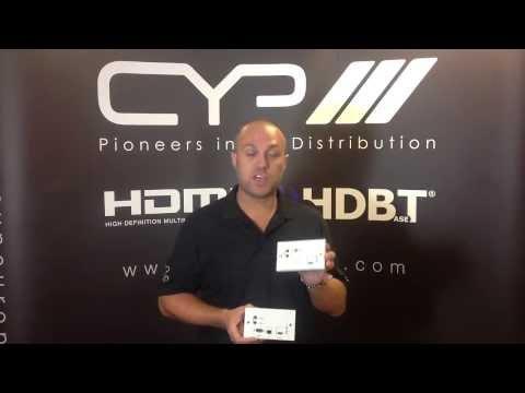 CYP Wallplate HDBaseT Receivers