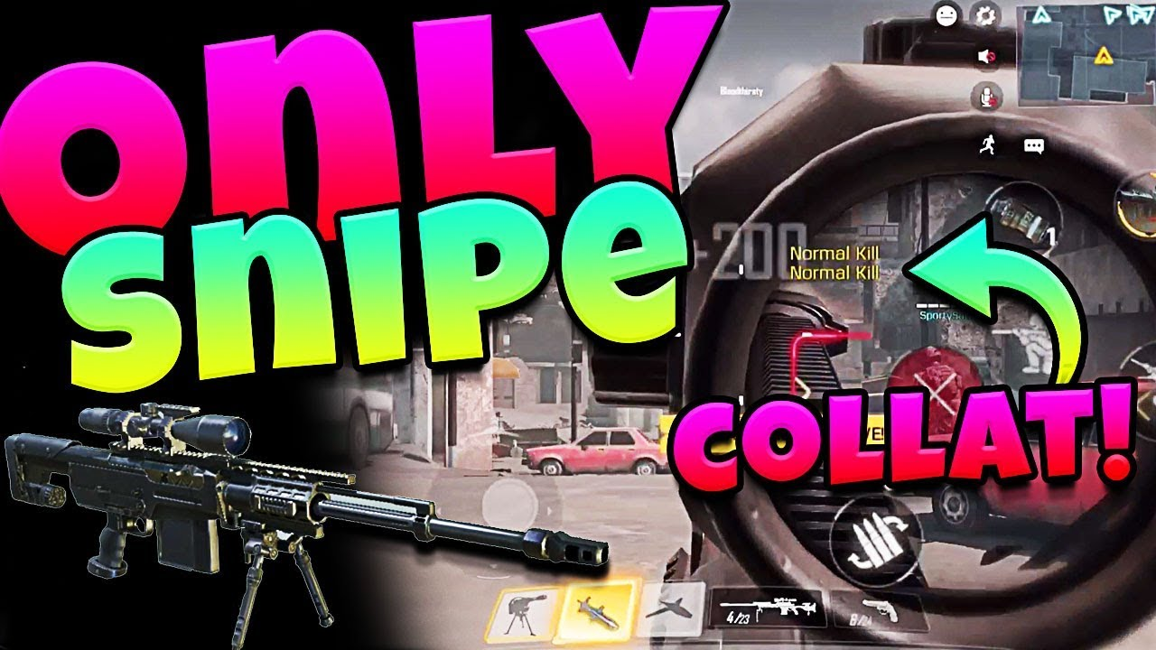 Only Sniper In Call Of Duty Mobile Youtube