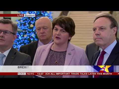 Arlene Foster says Northern Ireland must leave the EU on same terms as rUK