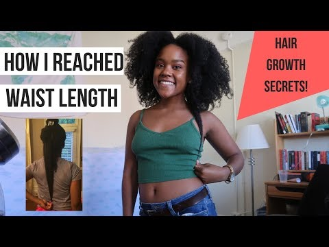How I Reached Waist Length Natural Hair (My Hair Journey, Favorite Products, Current Routine)