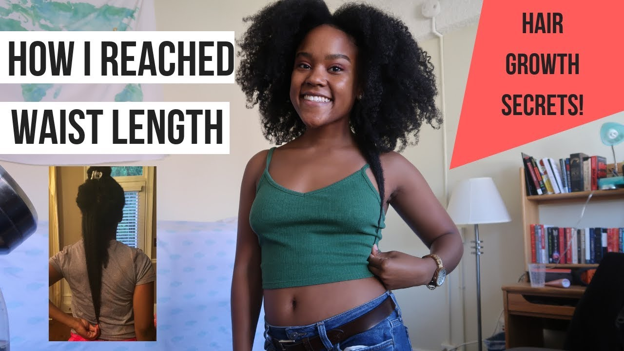 How I Reached Waist Length Natural Hair My Hair Journey Favorite Products Current Routine Youtube