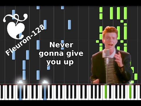 'Never gonna give you up' by 'Rick Astley' - Synthesia