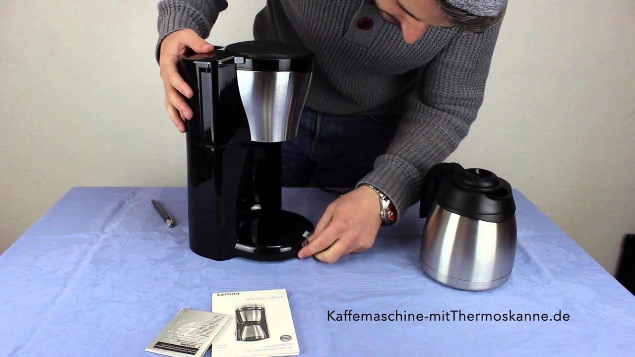 philips hd7546 20 unboxing kaffeemaschine mit thermoskanne youtube. Black Bedroom Furniture Sets. Home Design Ideas