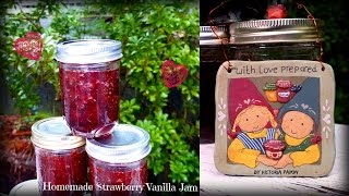 Organic Strawberry Vanilla Jam - Perfect Christmas Gift | Canned in Power Pressure Cooker XL