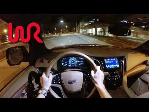 2017 Cadillac Escalade 4WD Platinum - WR TV POV Night Drive