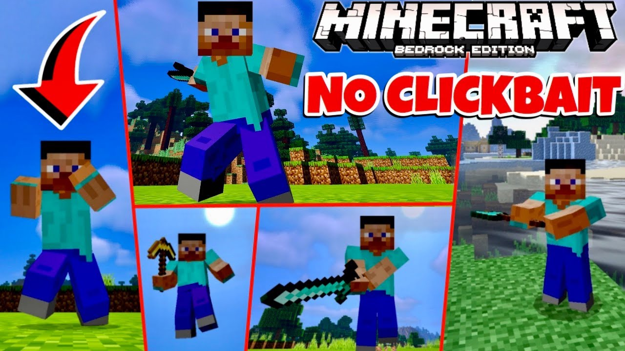 Minecraft PE: BEST PLAYER ANIMATION PACK (Mo' Bends Realistic Player Animations For MCPE 1.16)