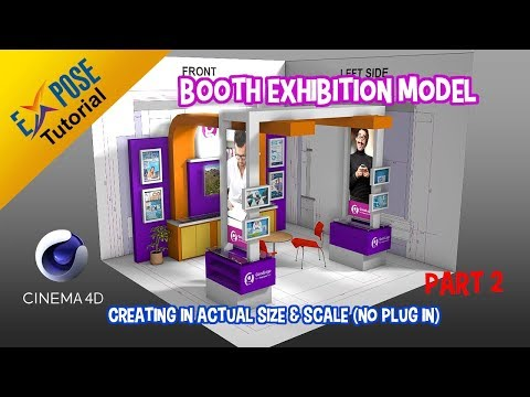 Cinema 4D Tutorial - Actual Size and Scale   Exhibition Stand part 2