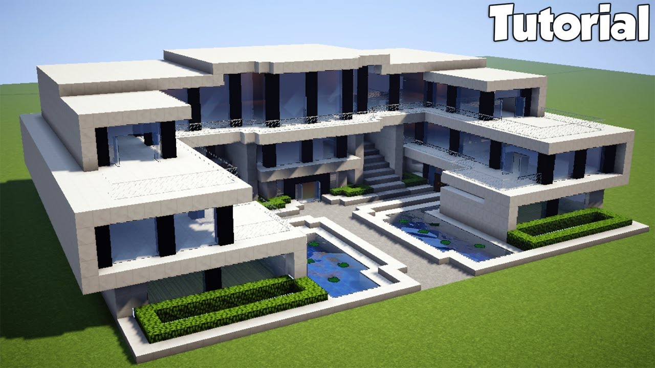Minecraft how to build a realistic modern house for How to build a modern home