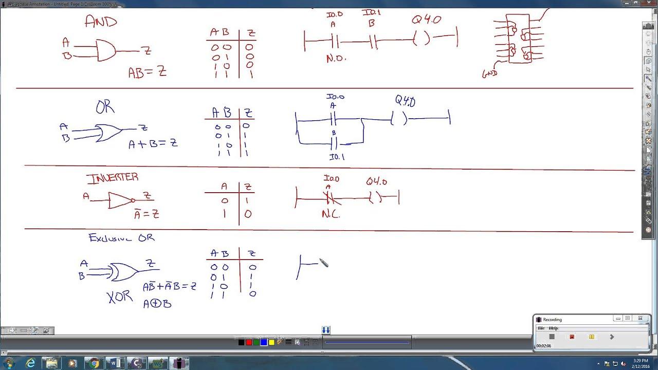 medium resolution of xor logic to ladder