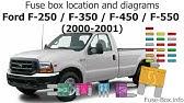 Ford F250 F350 F450 F550 1999 2001 Fuse Box Diagrams Youtube