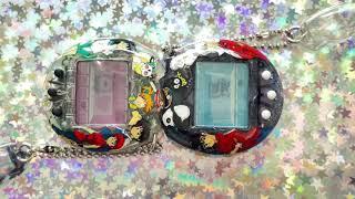 Osutchi & Mesutchi Tamagotchi Connection - Hand painted Inuyasha/Ranma 1/2 artwork by tama_art__