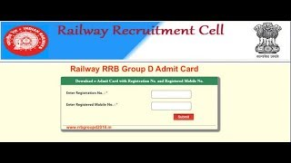 rrb chandigarh group d admit card 2018 By technical study no.1