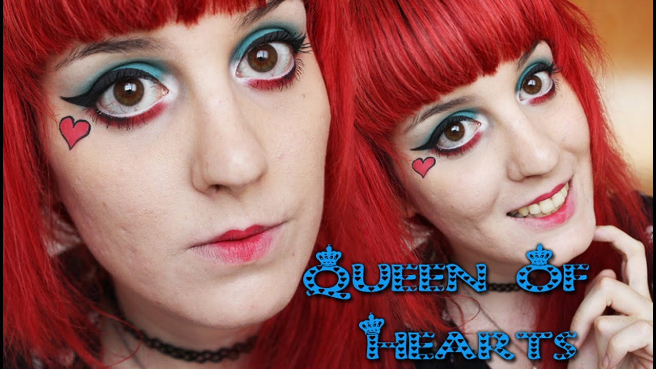 Queen Of Hearts Dramatic Makeup / Maquillaje Dramatico Reina de ...