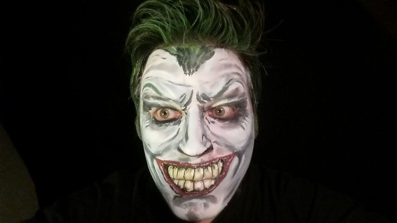 joker face paint halloween makeup tutorial youtube. Black Bedroom Furniture Sets. Home Design Ideas