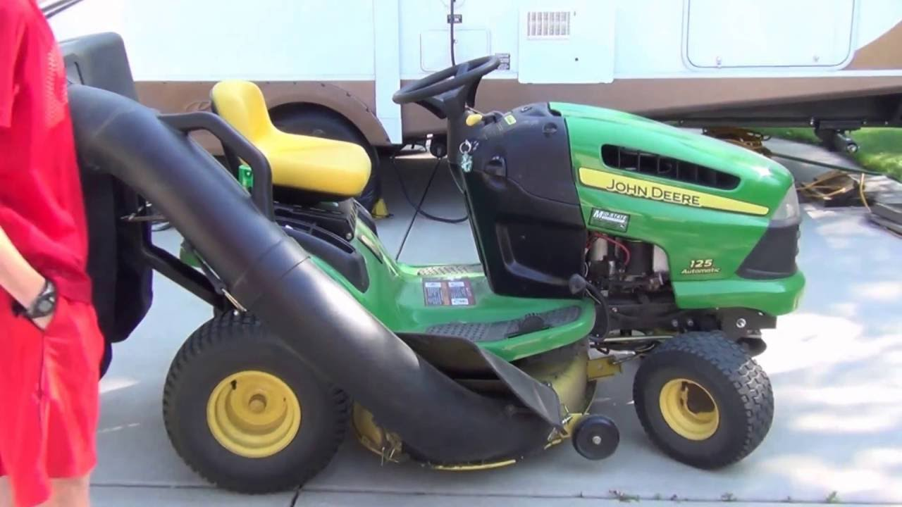 How To Remove A Bagger On John Deere 100 Series