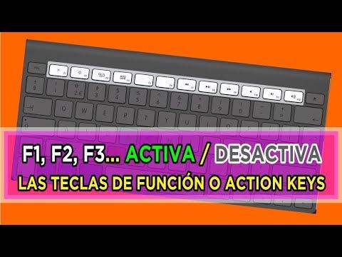 Cómo activar F1, F2, F3... Teclas de Función, Function Keys, Action Keys. La tecla Fn