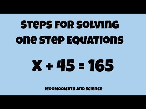 Solving a one step equation