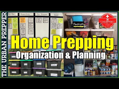 Home Prepping Planning and Organization | National Preparedness Month