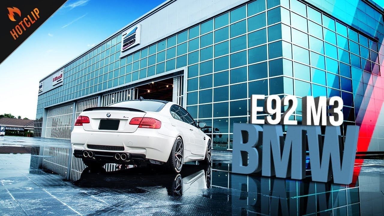BMW M3 E92 ขีดสุดแห่งพลังอันน่าหลงใหล ในสไตล์ใบพัดฟ้าขาว By BoxzaRacing.com