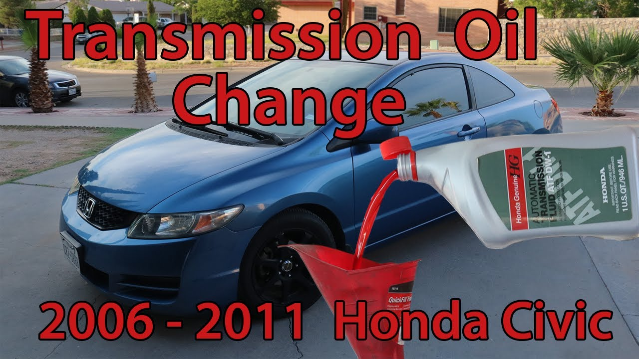 Automatic Transmission Oil Change Honda Civic 2006 2017