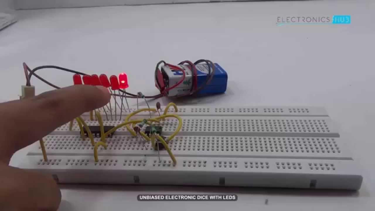 unbiased electronic dice with leds youtube rh youtube com