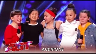 GForce: Tiny Cute Girl Group Have BIG Dreams! | America's Got Talent 2019
