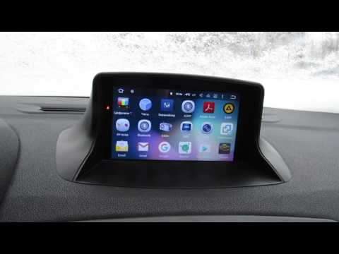 Магнитола на Android для Renault Megane 3.