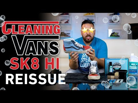 How to Clean Vans Sk8 Hi 38 Reissue with Reshoevn8r