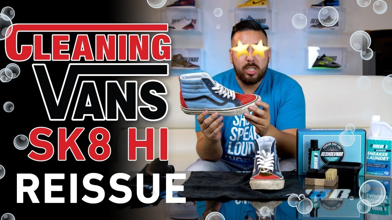 How to Clean Vans Sk8 Hi 38 Reissue with Reshoevn8r - YouTube fd7ae9447f73