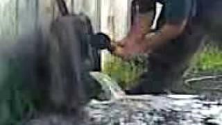cutting a gas tank