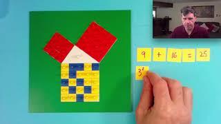 蒙特梭利中小學數學教學示範-從小學延伸到中學的畢氏定理教學:畢氏定理嵌板操作