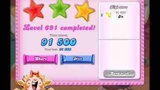 Candy Crush Saga Level 691   ★★★   NO BOOSTER
