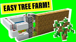 EASY Automatic Tree Farm!! For Minecraft Bedrock 1.14/15!!