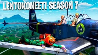 "SEASON 7 SKINS & AIRPLANES! ""Build Your own field!?!""-FORTNITE NEWS & THEORIES"