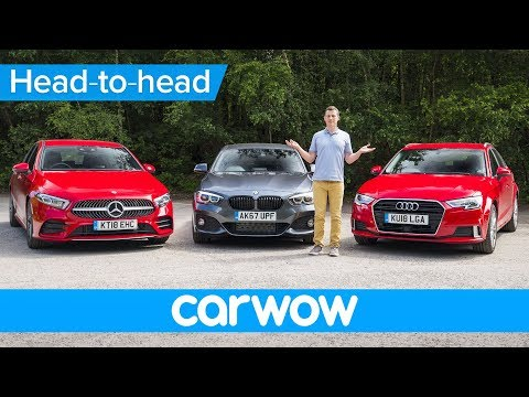 New Mercedes A-Class vs BMW 1 Series vs Audi A3 2019 review - which is the best premium small car.