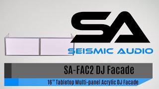Seismic Audio SA-FAC2 DJ Facade (Official)
