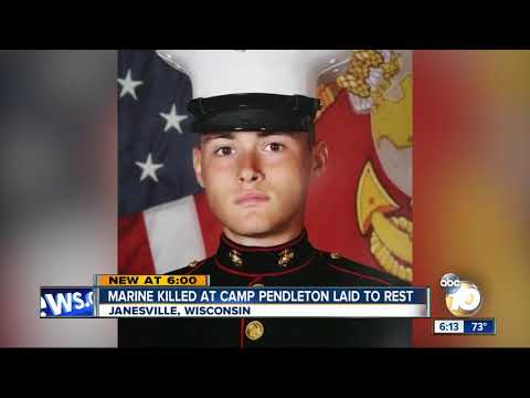 Marine Killed at Camp Pendleton laid to rest