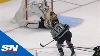 Bruins' Tuukka Rask Stacks The Pads To Stun Kings with Phenomenal Save