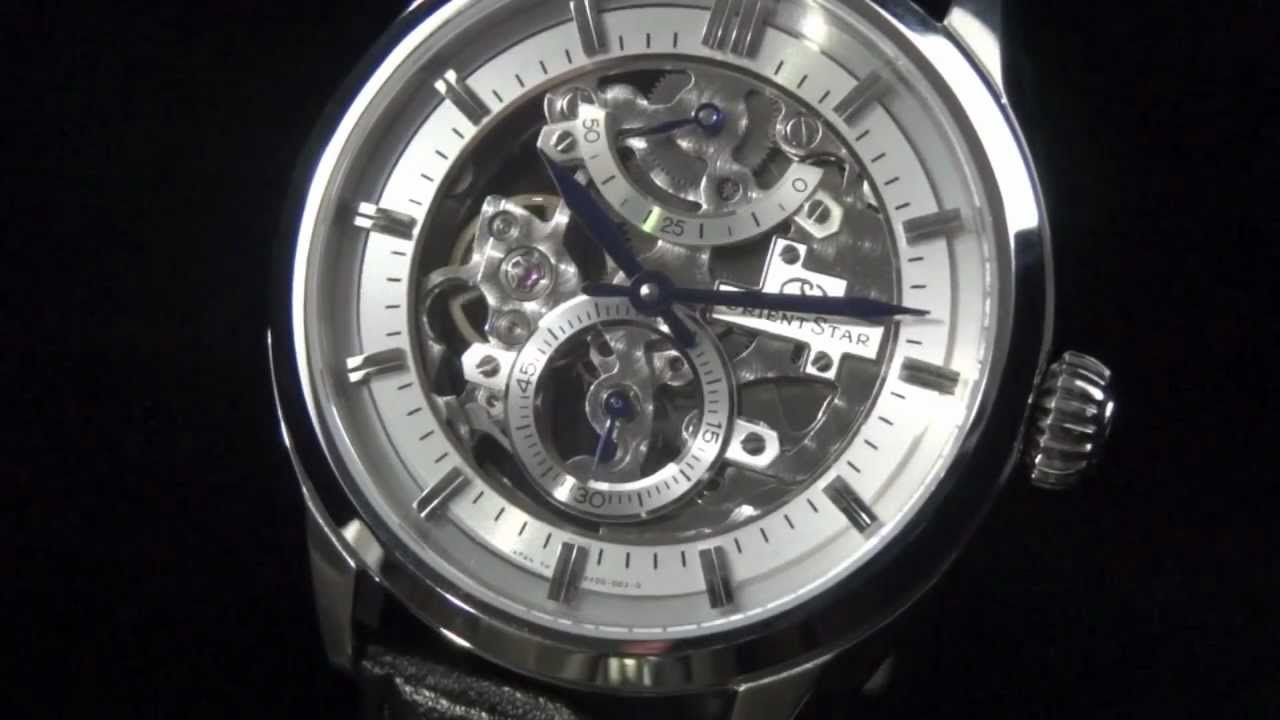 b1f525e34a2 Orient Star Skeleton DX00001W and DX00002W watch review - YouTube